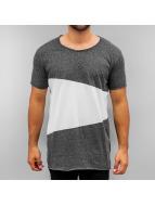 SHINE Original T-Shirt Raw Cut Asymmetric schwarz
