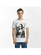 SHINE Original T-Shirt Collin Denim Rebel Print weiß