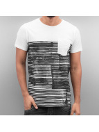 SHINE Original t-shirt Stripes wit