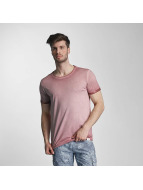 SHINE Original T-Shirty Dirt Dye Wash rózowy