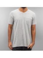 SHINE Original T-skjorter Inside Out Stripe grå