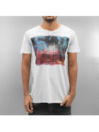 SHINE Original T-skjorter Slub Print hvit