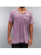 SHINE Original T-skjorter Burn Out Effect lilla