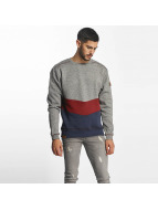 Shisha Diagonaal Sweater Black Wave Melange/Blueberry