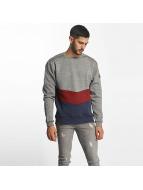 Shisha Diagonaal Sweater Black Wave Melange/Blueberry