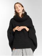 Shisha  Swetry rozpinane Muus Poncho czarny