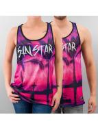 Sinstar Tank Tops Sunset Basketball vaaleanpunainen