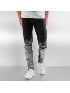 Sixth June Облегающие джинсы Radge Biker черный