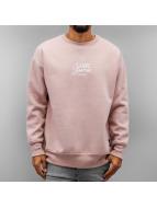 Sixth June Пуловер Oversized Logo розовый