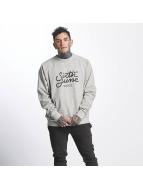 Sixth June Пуловер Classic Oversize Logo серый