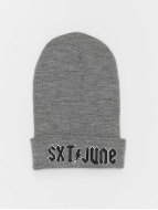 Sixth June Beanie Sixth June Logo grau