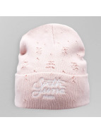Sixth June Beanie Destroyed Logo rosa