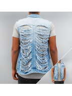 Sixth June Bodywarmer Jeans Weste blauw