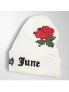 Sixth June Bonnet Logo Roses Embroideries blanc
