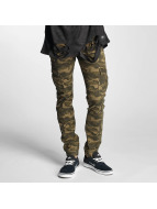 Sixth June Cargo Denim Jeans Green Camouflage