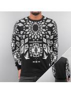 Geomatric Sweatshirt Bla...