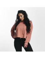 Sixth June Hoodie Classic Oversize Cropped rose