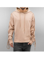Hoody With Laces Beige...