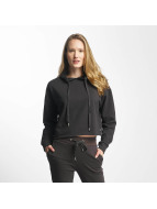 Sixth June Classic Oversize Cropped Hoody Stone Black