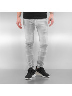 Sixth June Jeans slim fit Biker bianco