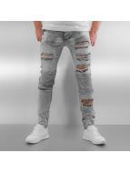 Sixth June Jeans slim fit Radge Biker grigio