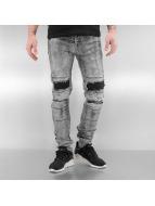 Sixth June Jeans slim fit Destroyed KneeCut grigio