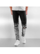 Sixth June Jeans slim fit Radge Biker nero
