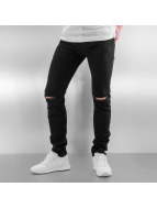 Sixth June Jeans slim fit Opened On Knee nero