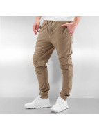 Sixth June joggingbroek Destroyed Biker beige