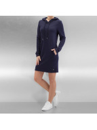 Sixth June Kleid Sweat Hooded blau
