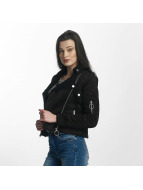 Sixth June Perfecto Faux Leather Winter Jacket Black