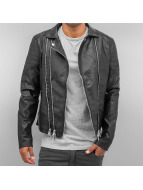 Sixth June Lederjacke Leather schwarz