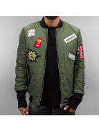 Sixth June Lightweight Jacket All over Patches khaki