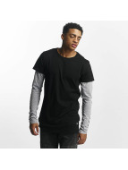 Sixth June Longsleeve Two Tone Regular schwarz