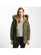Sixth June Oversize With Fake Fur Hood Classic Parka Khaki/Beige