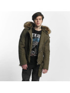 Sixth June Puffa Perfecto With Biker Yoke Jacket Khaki/Beige