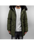 Sixth June Manteau hiver Fur olive