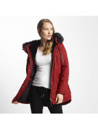 Sixth June Oversize With Fake Fur Hood Classic Parka Burgundy/Black