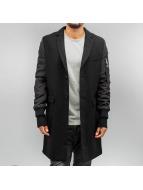 Sixth June Manteau Mix Pu Leather noir