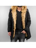 Sixth June Mantel Fur schwarz