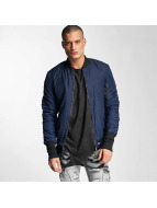 Padded Bomber Jacket Blu...