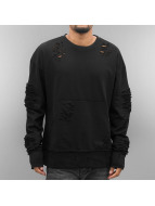 Sixth June Pullover Destroyed Biker black