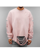 Sixth June Pullover Ultra Destroyed Oversized rosa