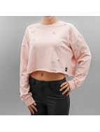 Sixth June Pullover Destroyed Cropped rosa