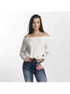 Sixth June Pullover Oversize Cold Shoulder weiß