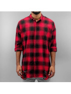 Sixth June Shirt Ultra Oversize Destroyed red
