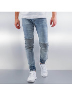 Sixth June Skinny Jeans Elastic Bottom Biker blau