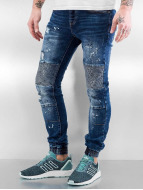 Sixth June Skinny Jeans Destroyed Biker blau