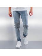Sixth June Skinny jeans Elastic Bottom Biker blauw