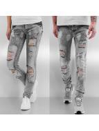 Sixth June Skinny Jeans Destroyed grau